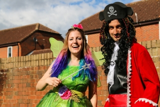 Tinkerbell and Captain Hook - Two of my best friends dressed up for a Disney themed party