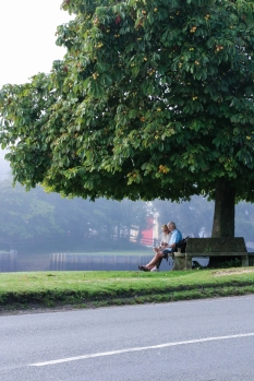 Day out at Beaulieu - Saw this elderly couple enjoying a morning rest.