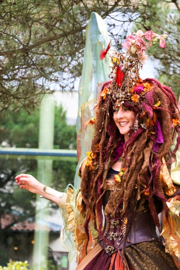Elveden Centre Parcs - Entertainer dressed as Titania from a Midsummer Nights Dream, very impressive and great fun to see